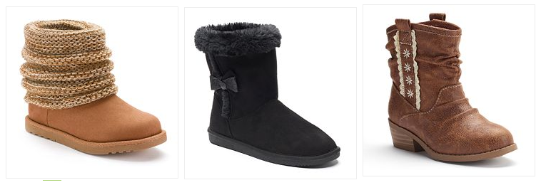 Get Girls' Boots for just $11.99 (reg. up to $54.99!) at Kohl's right now!