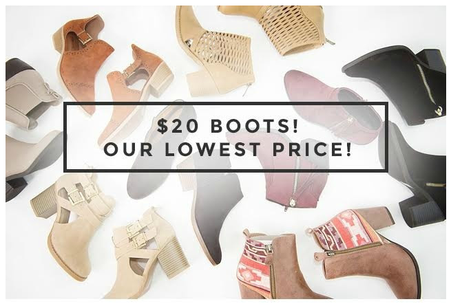 Get women's boots for just $20 shipped at Cents of Style right now!