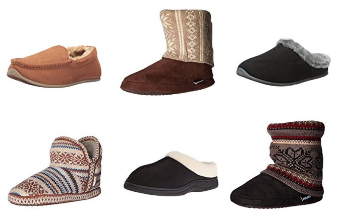 Get up to 50% off men's and women's slippers!
