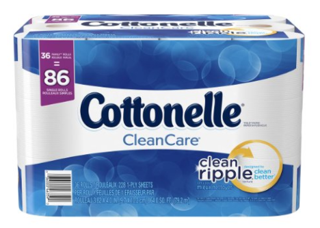 Get Cottonelle Bath Tissue for just $0.38 per double roll, shipped!
