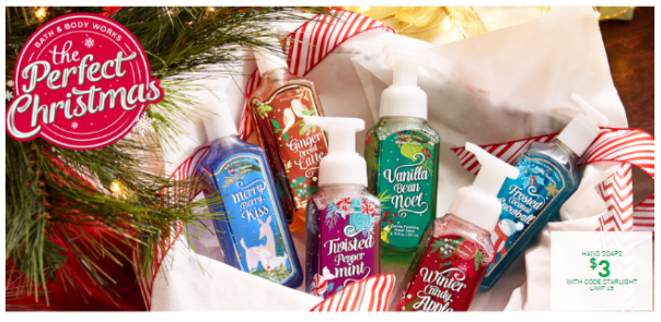 Bath & Body Works: Hand soaps for just $3 each!