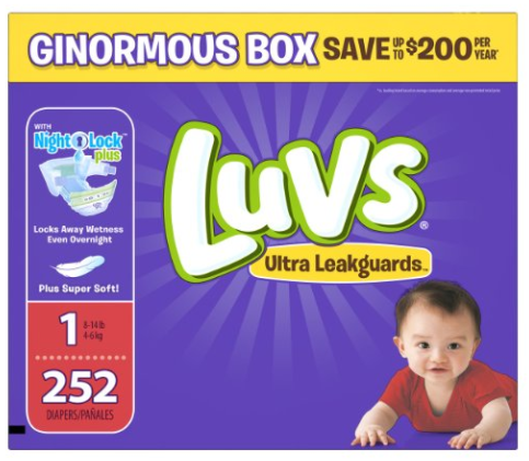 Get Luvs Diapers as low as $0.07 per diaper, shipped!
