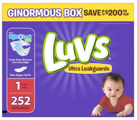 Get Luvs Diapers as low as $0.07 per diaper, shipped!