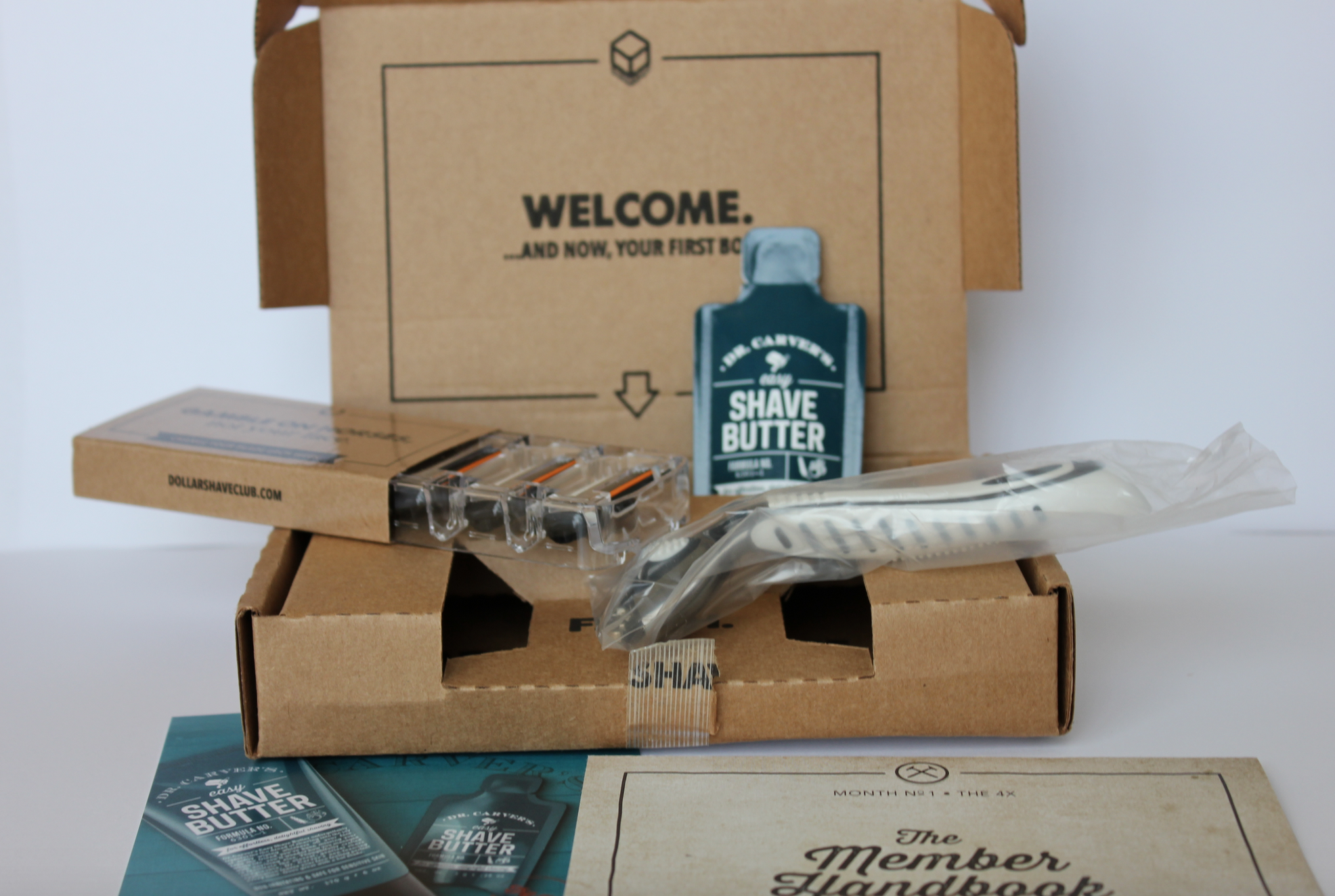 Dollar Shave Club welcome box