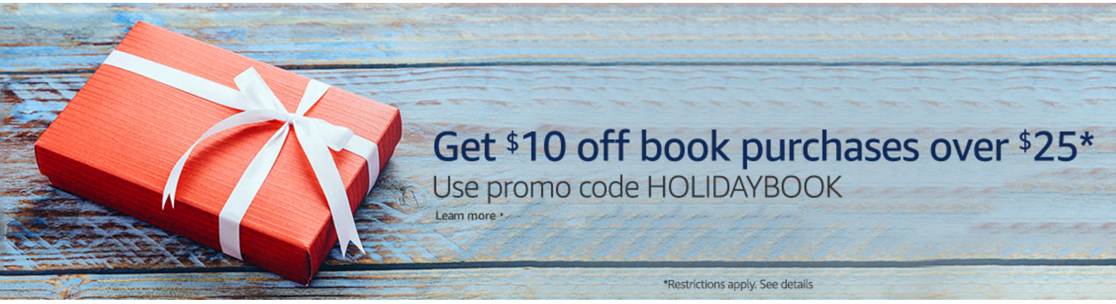 Amazon $10 off $25 BOOK Purchase!