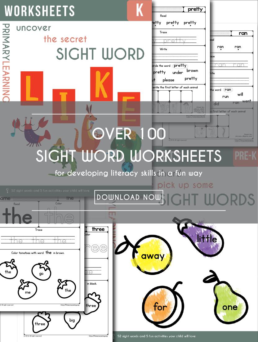 Worksheets Free Printable Sight Word Worksheets free printable sight words worksheets money saving worksheets