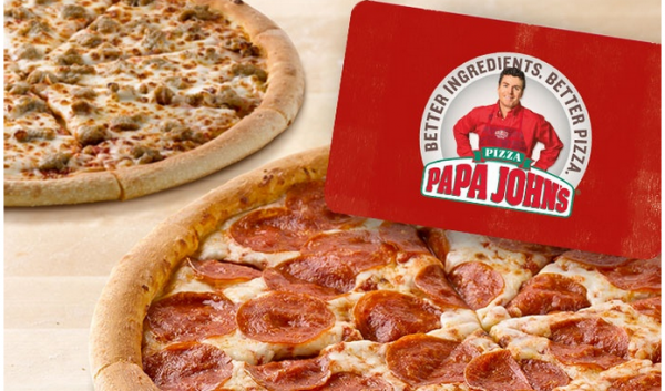 Buy a $25 Papa John's gift card, Get two free large pizzas!