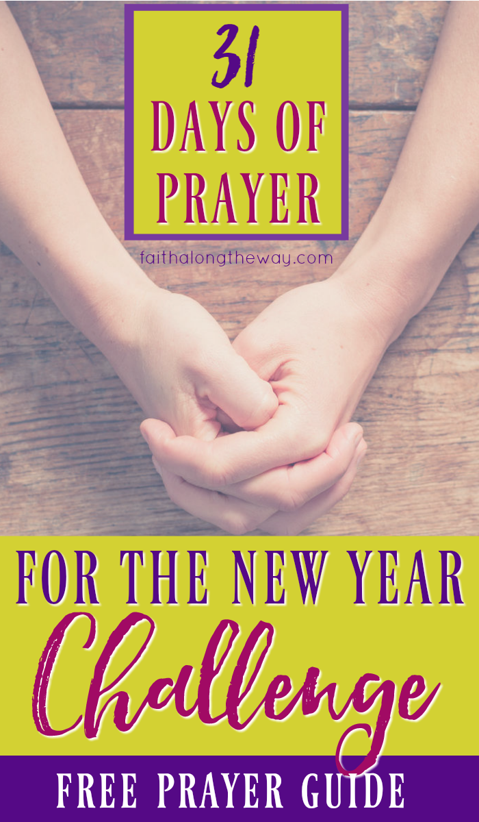 Free 31 Days of Prayer for the New Year Printable