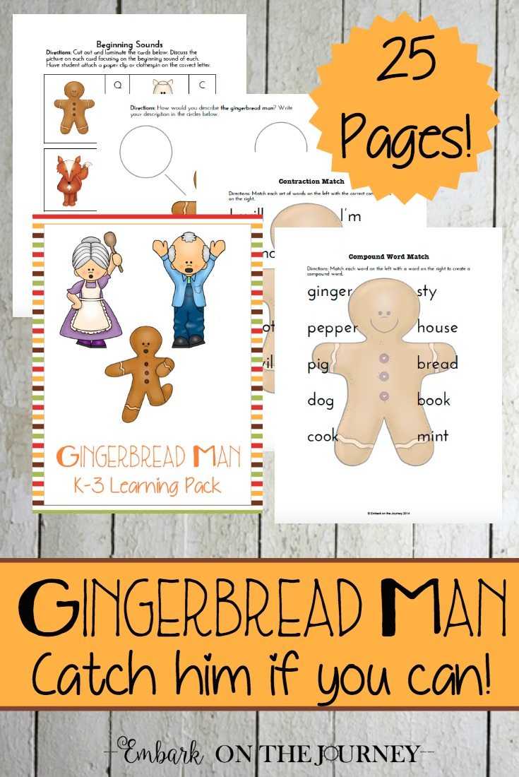 photo regarding Gingerbread Man Printable Book identify Free of charge Gingerbread Person Printable Pack - Dollars Preserving Mother