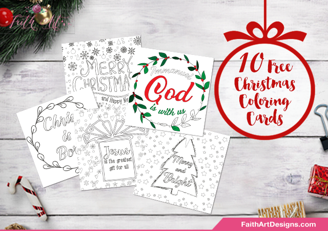 Free Printable Christmas Coloring Cards