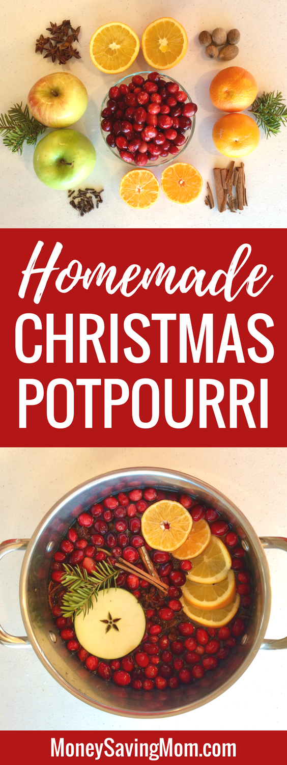 Easy homemade Christmas potpourri! Fancy it up or make it frugal -- whatever works for you!