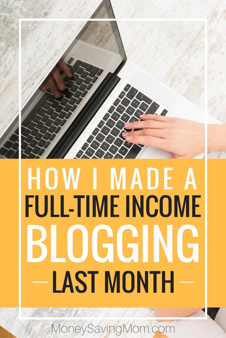 Make a full-time income blogging!