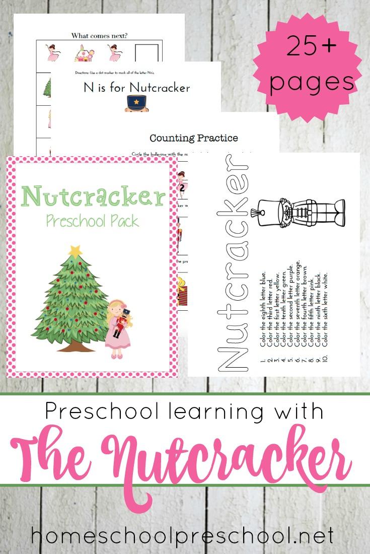 Free Printable Nutcracker Preschool Pack