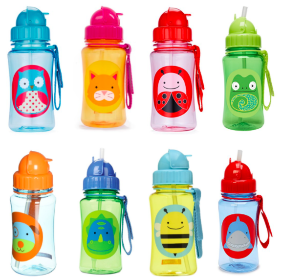 Get Skip Hop Zoo Travel-To-Go Flip Top Straw Bottles for just $4.90 on Amazon right now!