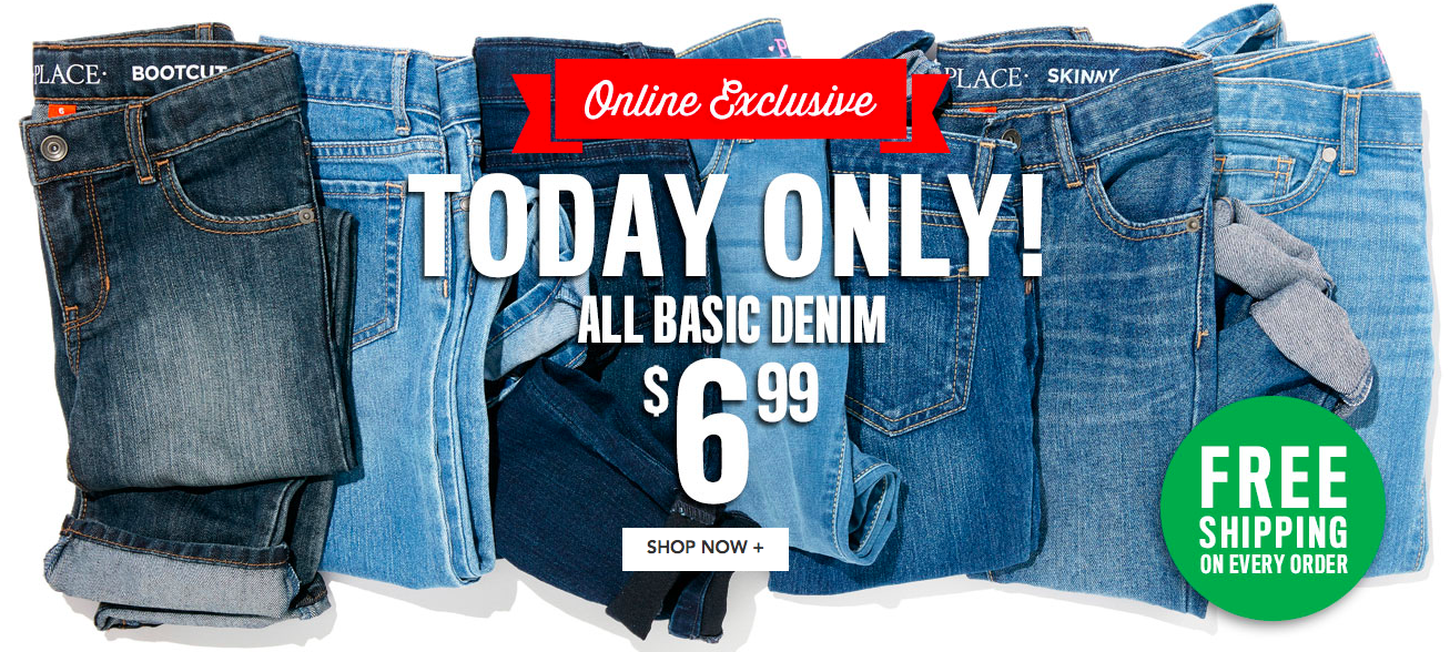 Get Kids' Denim for just $6.99 shipped at The Children's Place right now!