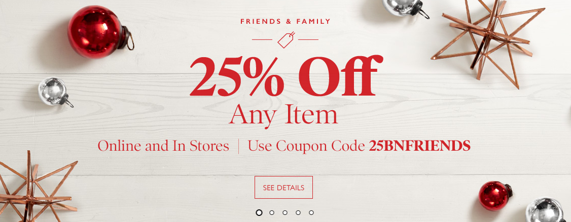 Barnes & Noble: Get 25% off one item in-store or online!