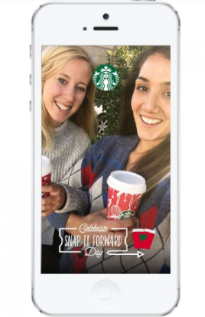 Starbucks: Buy one, get one free holiday drinks today {for Snapchat users}