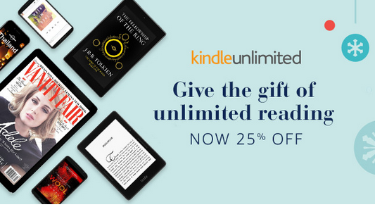 Get 25% off a one-year Kindle Unlimited subscription!