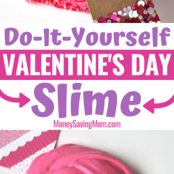 This DIY Valentine's Day Slime is such a fun gift idea! And it's SUPER easy for kids to make!