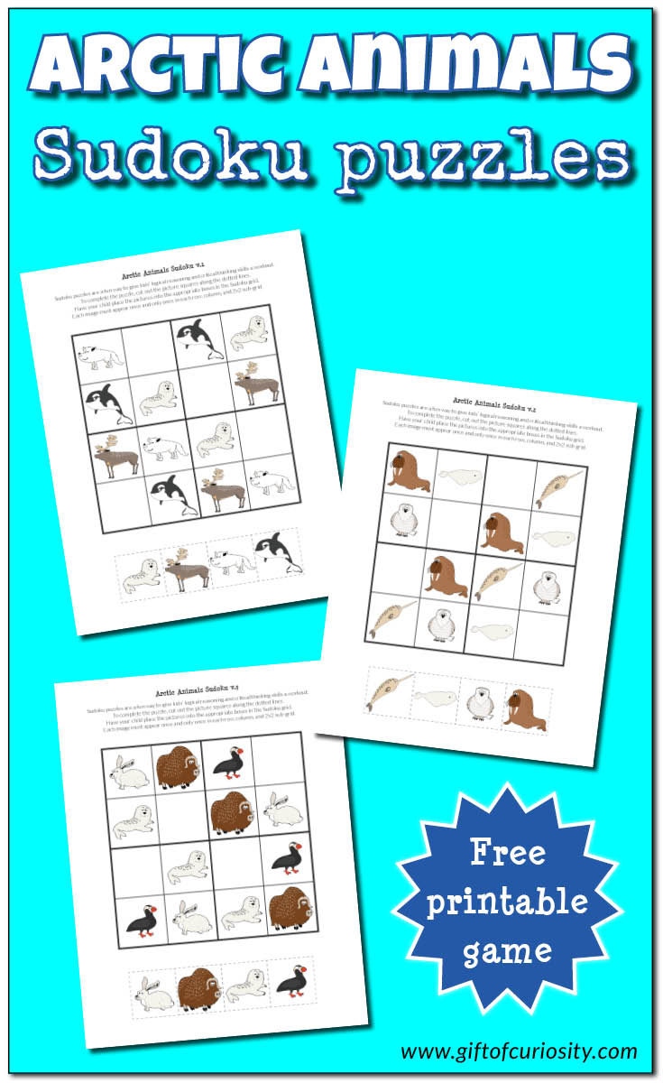 Free Printable Arctic Animals Sudoku