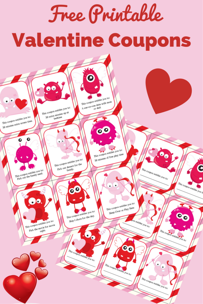 Free Printable Valentine Coupons for Kids