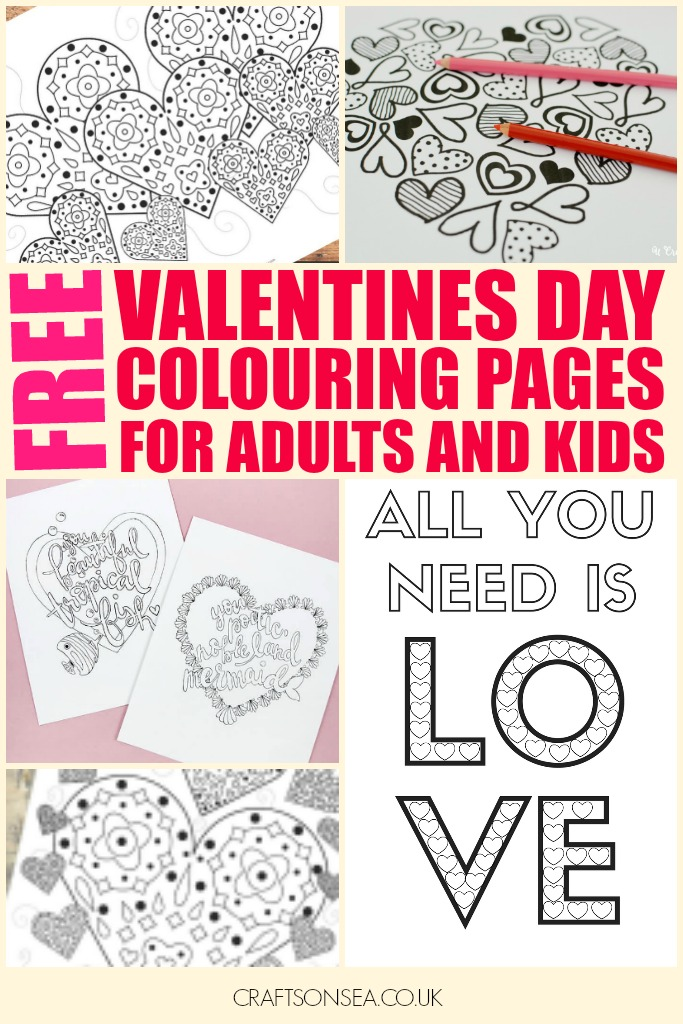 graphic about Printable Valentines Color Pages titled No cost Printable Valentines Working day Coloring Webpages for Grownups and