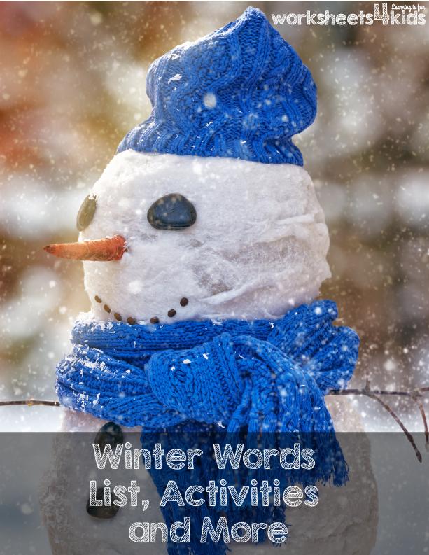 Free Winter Words Printable Pack