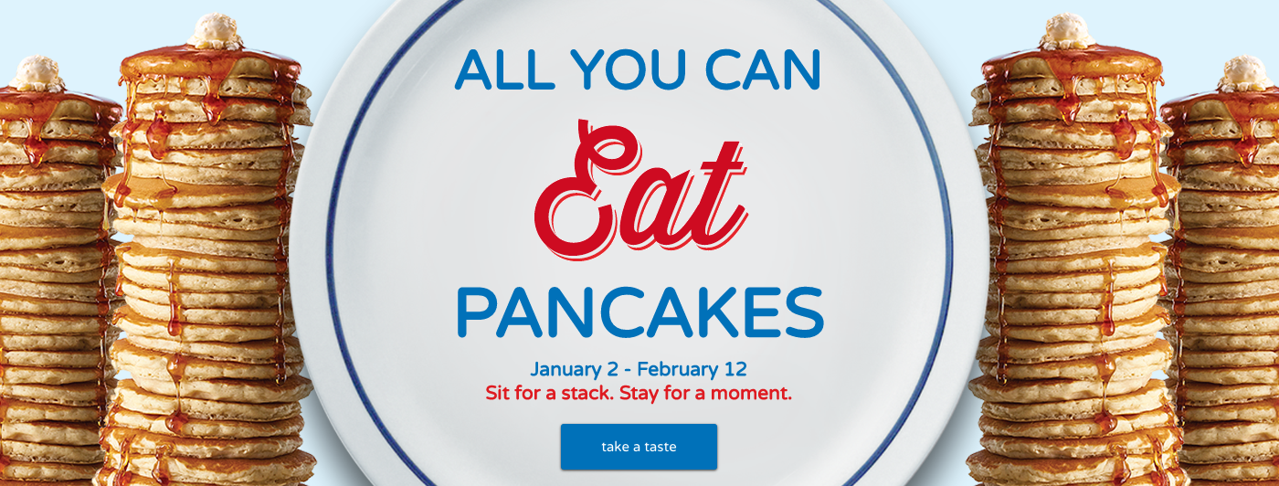 IHOP: All You Can Eat Pancakes through February 12, 2017