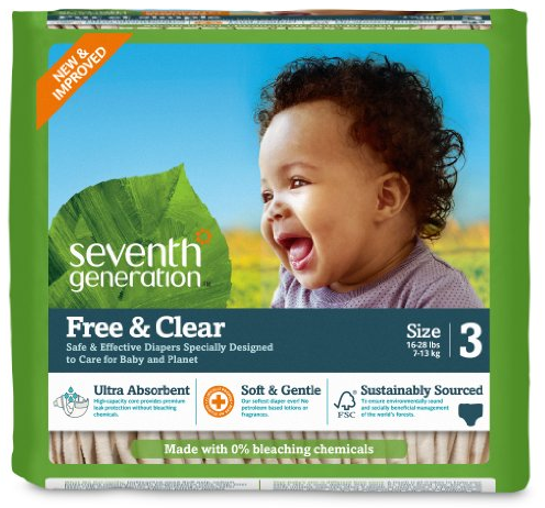 Amazon.com: 30% off Seventh Generation diapers e-coupons, plus extra 20% off with Amazon Family!
