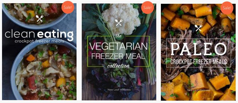 New Leaf Wellness Freezer Cooking eCookbook Sale!