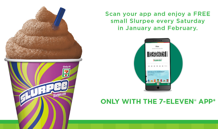 7-Eleven: Free small Slurpee every Saturday in January and February