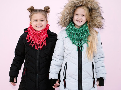 Get two kids' infinity scarves for just $4 each, shipped!