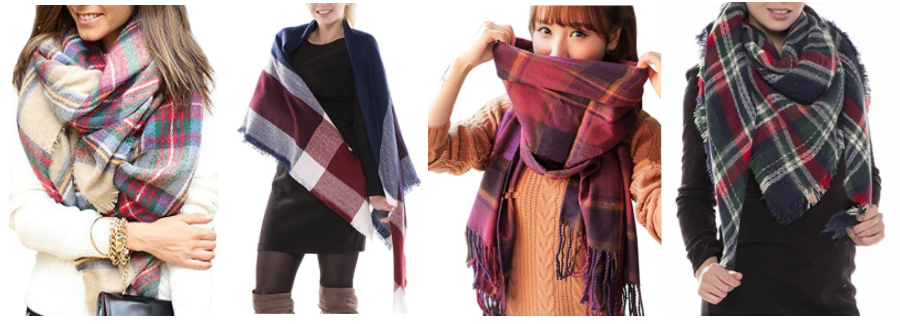 Amazon.com: Plaid Blanket Scarves as low as $6.89!