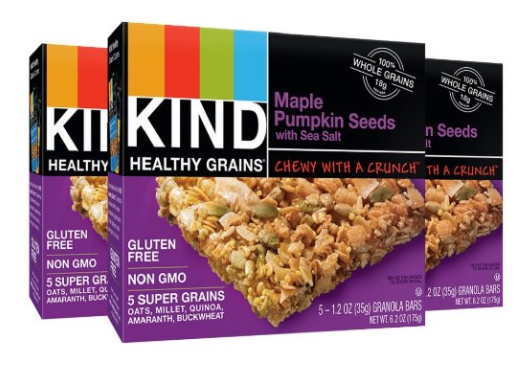 Amazon.com: KIND Healthy Grains Maple Pumpkin Seeds Granola Bars, 15-count for just $6.88 shipped!