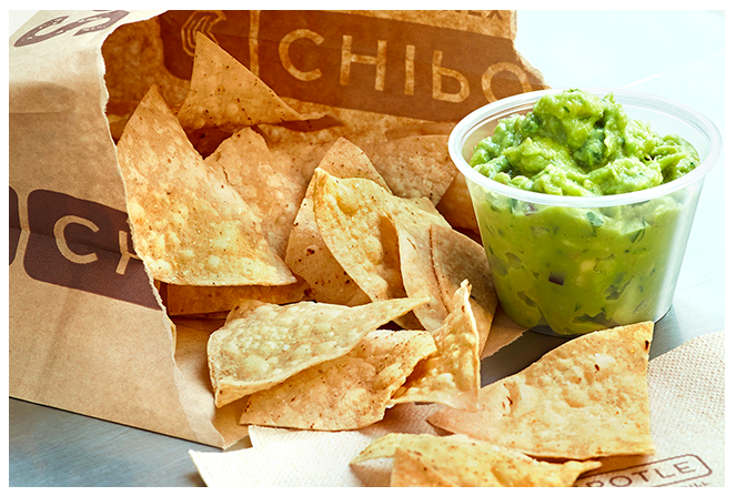 Chipotle: Free guacamole & chips with entree purchase!