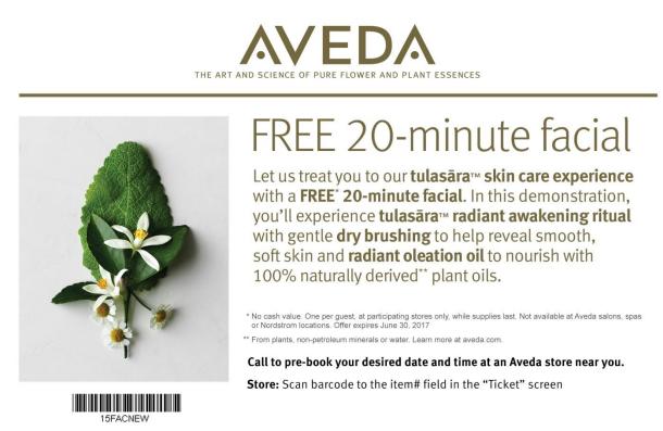Aveda: Free 20-Minute Facial
