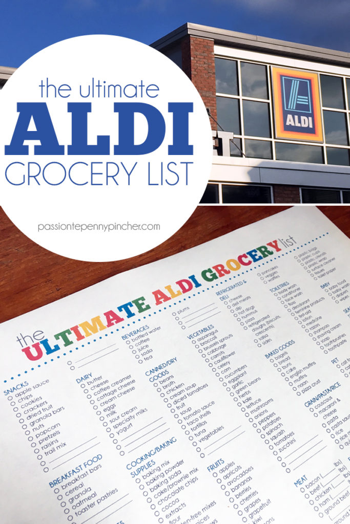 Free Printable The Ultimate Aldi Grocery List  Money Saving Mom