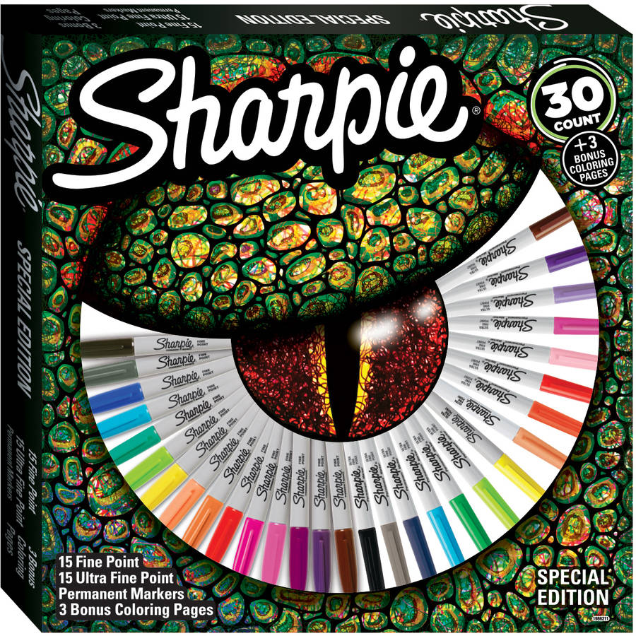 Walmart.com: Sharpie Special Edition 30-Count Set With Bonus Coloring Pages  for