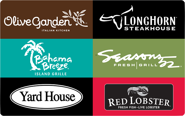 Free $10 Darden Restaurants Gift Card after rebate!