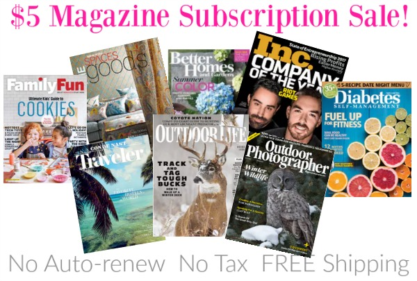 $5 Magazine Subscription Sale: Choose From Great Titles!