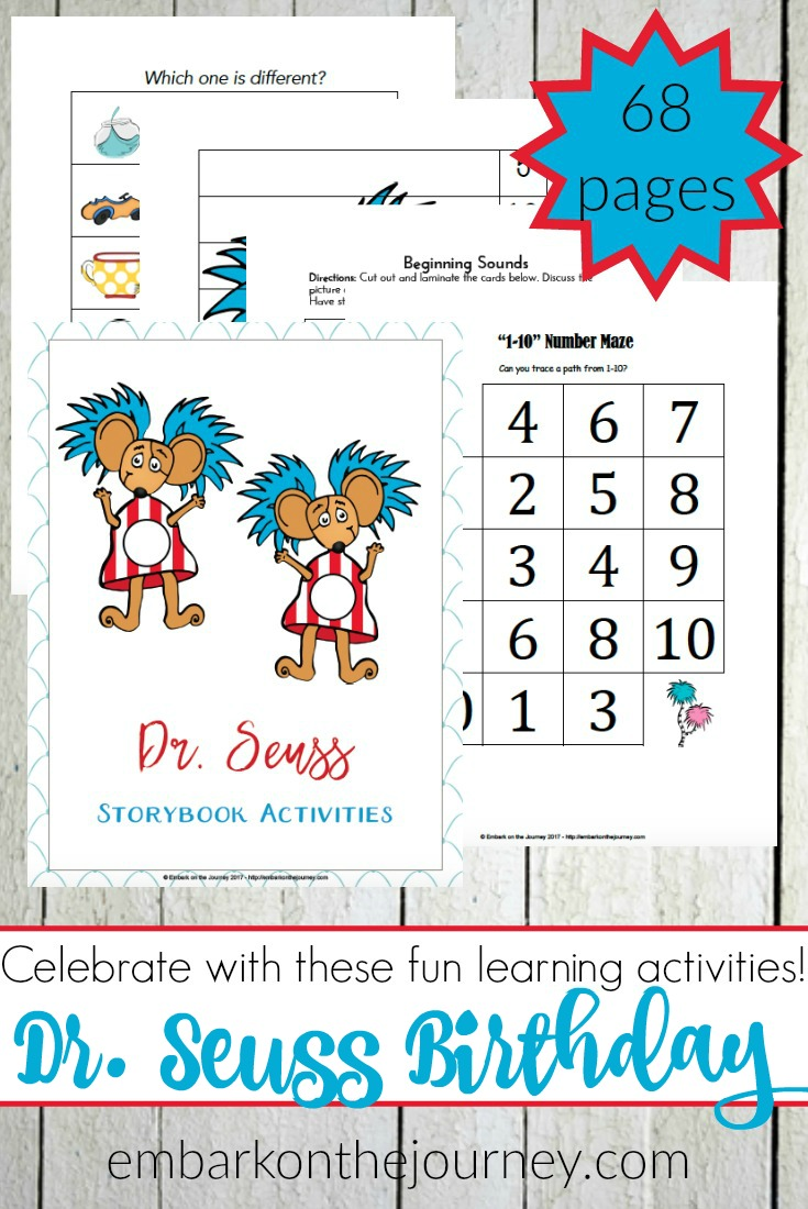 Free Dr. Seuss Printable Pack