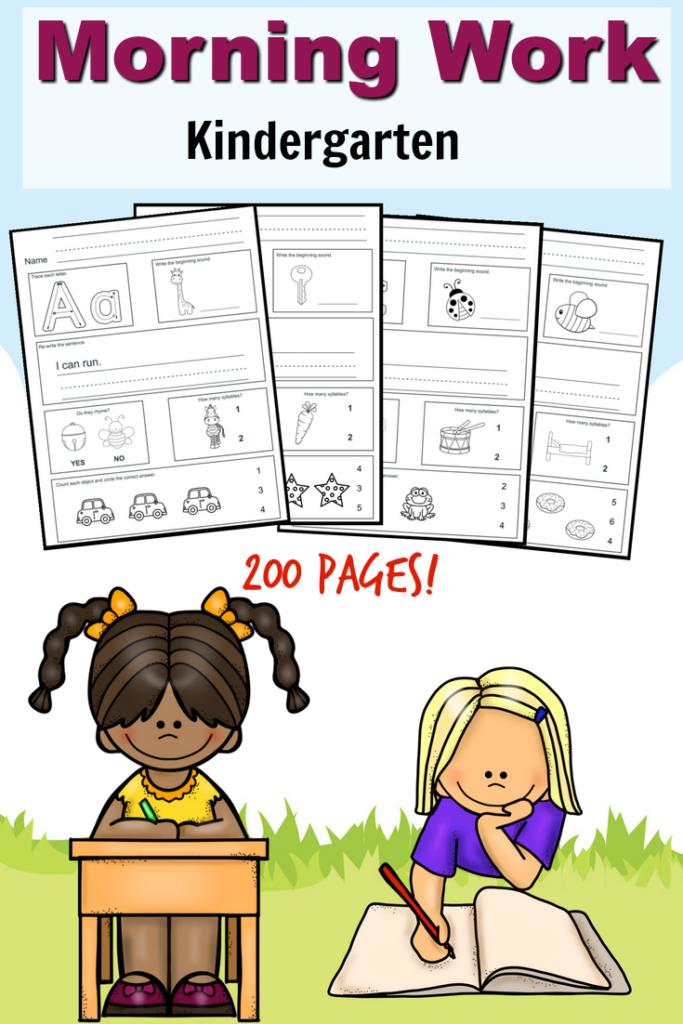 Free Kindergarten Morning Work Printable Pack