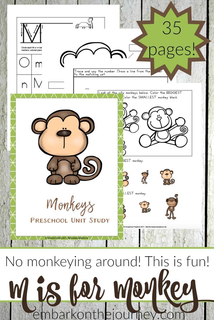 Free Printable Preschool Monkey Activities - Money Saving ...