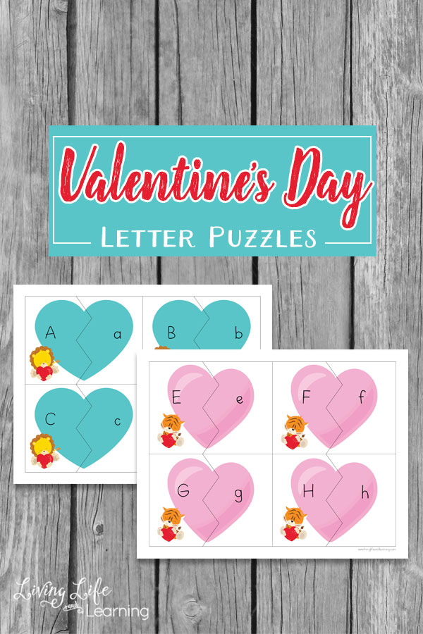 Free Printable Valentine's Day Letter Puzzles
