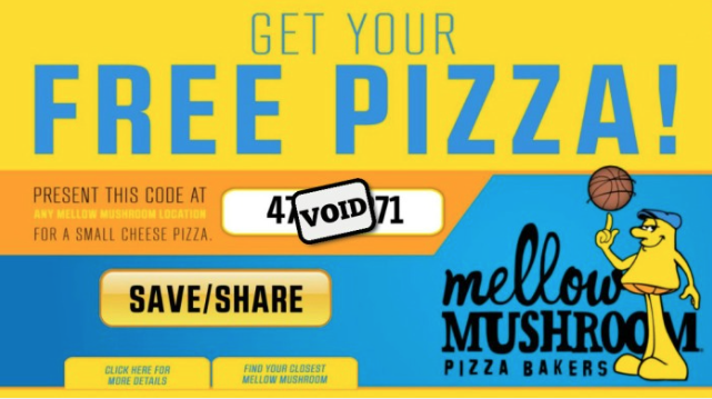 image about Mellow Mushroom Printable Coupons identify Mellow Mushroom: Buy a free of charge tiny cheese pizza with application