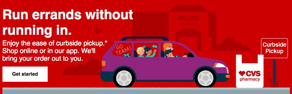 CVS: Get $10 off any $15 Curbside Order!