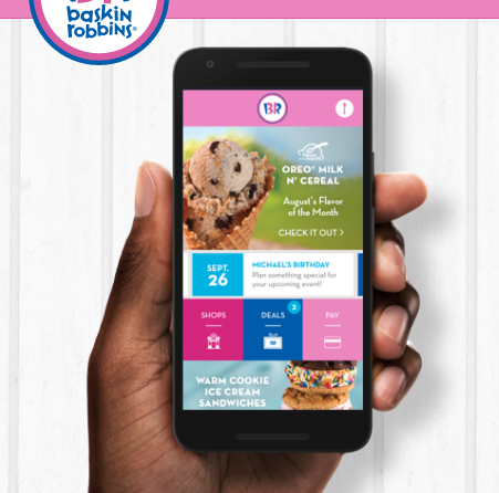 Baskin Robbins: Free scoop of ice cream with app download!