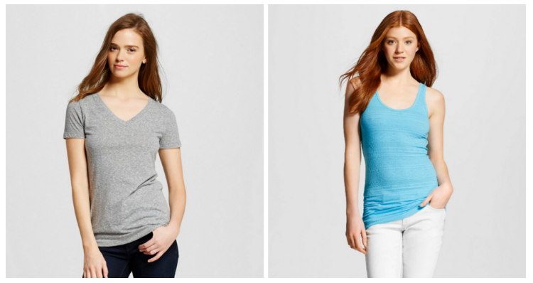 Target.com: Women's Mossimo Shirts and Tanks for just $2.70!