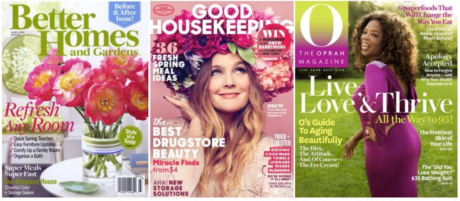 Get two free magazine subscriptions (Choose from Better Home & Gardens, Good Housekeeping, & more!)