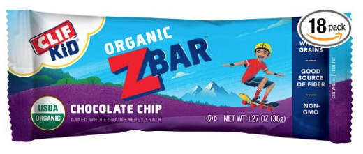 Amazon.com: CLIF Kid Chocolate Chip Zbar Organic Energy Bars 18 count for just $7.88!